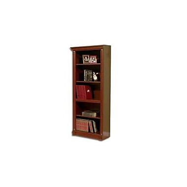 Bush Birmingham 5-Shelf Bookcase, Harvest Cherry