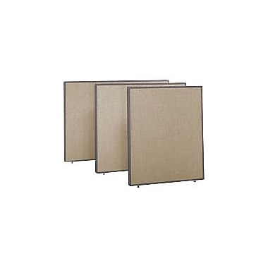 Bush ProPanel,Tan, 48in. Wide Privacy Panel, 42-7/8in.H x 48in.W x 1-3/4in.D
