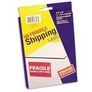 """Staples """"Fragile - Handle with Care"""" Labels, 4 1/4"""" x 2 15/16"""""""
