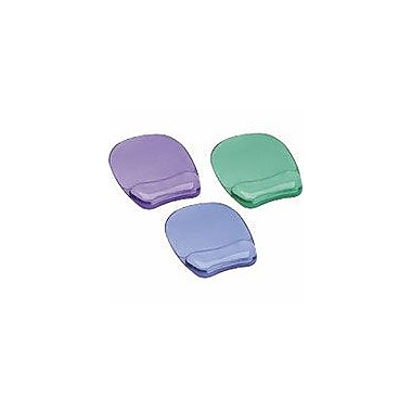 Fellowes Crystal Gel Mouse Pad/Wrist Rest Purple