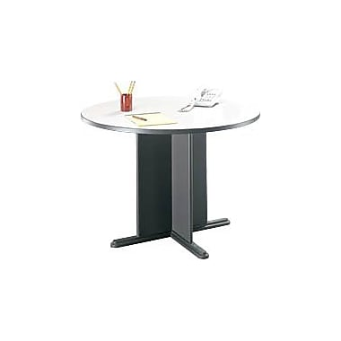 Bush Cubix 42in. Round Conference Table, Slate Gray/White Spectrum, Fully assembled