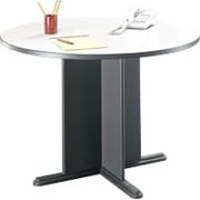 Bush Cubix 42 Round Conference Table, Slate Gray/White Spectrum, Fully assembled