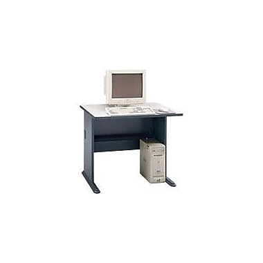 Bush Cubix 36in. Desk,Slate Gray/White Spectrum, Fully assembled