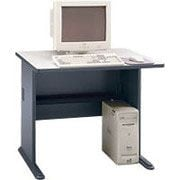 Bush Cubix 36 Desk,Slate Gray/White Spectrum, Fully assembled