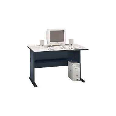 Bush Cubix 48in. Desk, Slate Gray/White Spectrum, Fully assembled