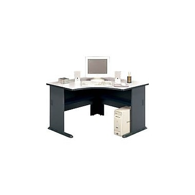 Bush Cubix 48in. Corner Desk, Slate Gray/White Spectrum, Fully assembled