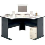 Bush Cubix 48 Corner Desk, Slate Gray/White Spectrum, Fully assembled