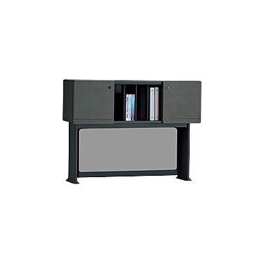 Bush Cubix 48in. Hutch, Slate Gray/White Spectrum, Fully assembled