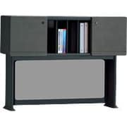 Bush Cubix 48 Hutch, Slate Gray/White Spectrum, Fully assembled