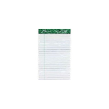 Ampad® Evidence® 50% Recycled, 5in. x 8in., White, Writing Pads, Medium Ruled, 12/Pack