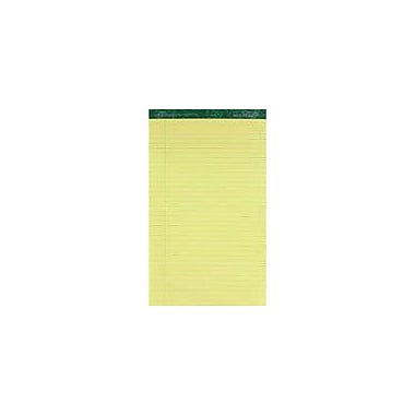 Ampad® Evidence® 50% Recycled, 8-1/2in. x 14in., Canary, Writing Pads, Wide Ruled, 12/Pack