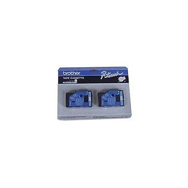 Brother 2pk 1/2in. Blue on White tape