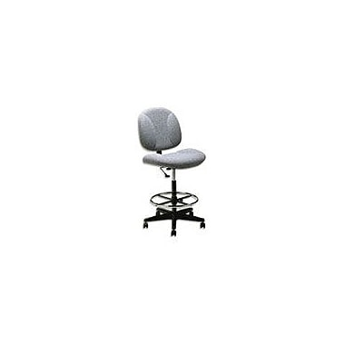 Global Deluxe Fabric Drafting Chair, Gray