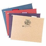 Pendaflex® EarthWise® 100% Recycled Hanging File Folders, Legal, 5-Tab, Green, 25/Box