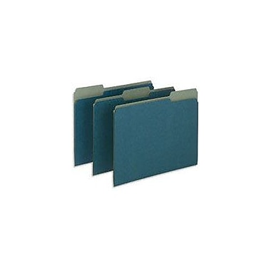 Pendaflex Earthwise® 100% Recycled Colored File Folders, Letter, 3 Tab, Blue, 100/Box