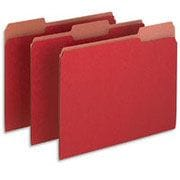 Pendaflex® Earthwise® 100% Recycled Colored File Folders, Letter, 3 Tab, Red, 100/Box