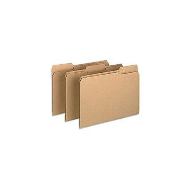 Pendaflex Earthwise® 100% Recycled Colored File Folders, Letter, 3 Tab, Natural, 100/Box