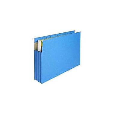 Staples® Hanging File Pockets, Letter, Blue, 4/Box