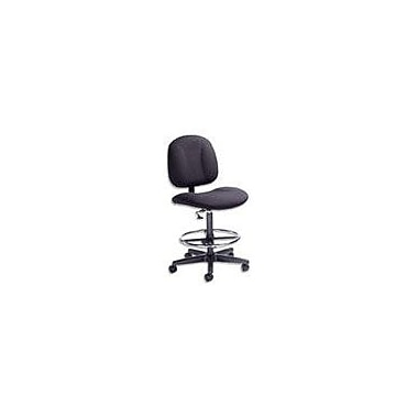 Global Deluxe Fabric Drafting Chair, Black