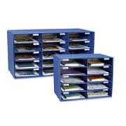 "Pacon Classroom Keepers Classroom Mailbox, 15 Slots, 16 3/8""H x 31 1/2""W x 12 7/8""D, Blue"
