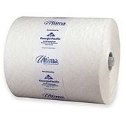 "Georgia-Pacific® Ultima® High Capacity Premium Towels on 8 1/4"" Rolls, 1 Ply, 12 Rolls/ CT, 425 Linear Feet per roll, White"