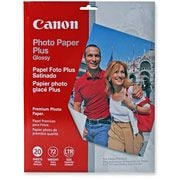 "Photo Paper Plus,Glossy,8-1/2""x11"",20SH/PK,White"