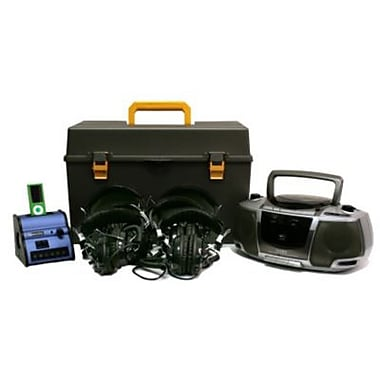 Amplivox Digital iPOD Audio Listening Center with Deluxe CD/Cassette/AM/FM 6 Station Listening Center