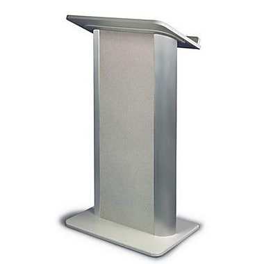 Amplivox Lectern, Flat C-Panel, Grey Granite-Satin Anodized Aluminum