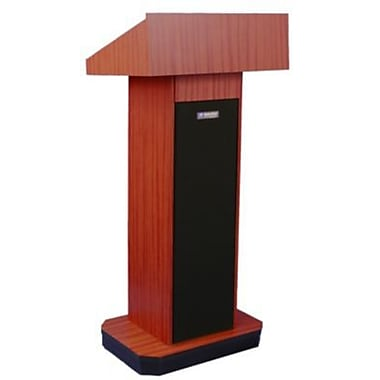 Amplivox Lectern, Non-Sound, Full-Height, Column, Mahogany