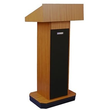 Amplivox Lectern, Non-Sound, Full-Height, Column, Medium Oak