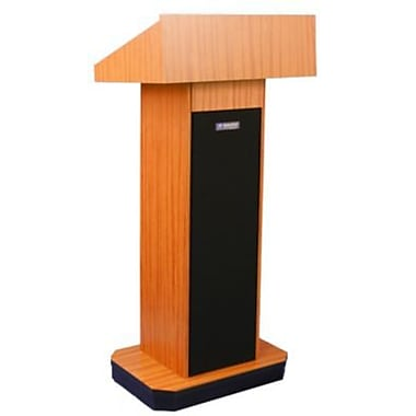 Amplivox Lectern, Non-Sound, Full-Height, Column, Light Oak