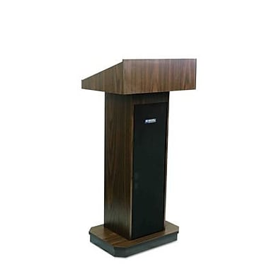 Amplivox Lectern, Non-Sound, Full-Height, Column, Walnut