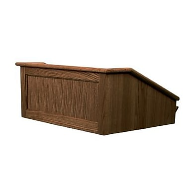 Amplivox Lectern, Non-Sound, Hardwood, Victoria, Table Top, Walnut