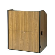 Amplivox Lectern, Non-Sound, Wide-Multimedia, Medium Oak