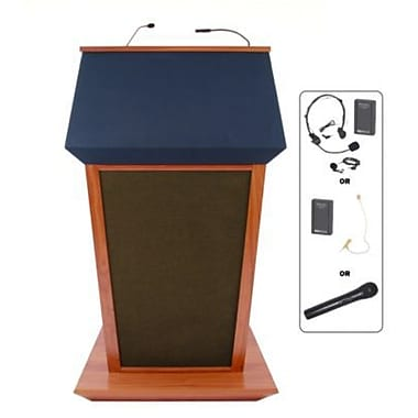Amplivox Lectern, Wireless Sound, Hardwood, Patriot Plus, Mahogany