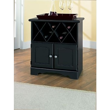 New Visions by Lane Manor Hill Wood Wine Cabinet, Black