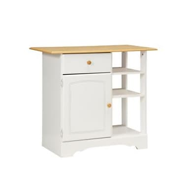 New Visions by Lane Kitchen Essentials Wood Island, White/Maple