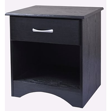 New Visions by Lane Bedroom Essentials Wood Night Stand, Black