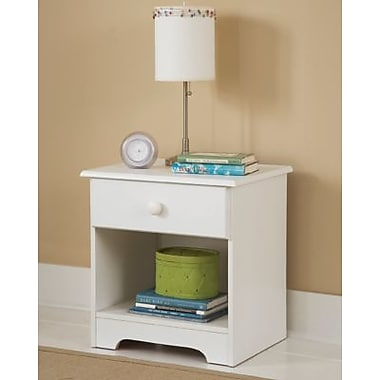 New Visions by Lane My Space-My Place Wood Night Stand, White