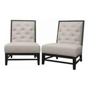 Baxton Studio Bristol Tufted Linen Modern Chair, Gray