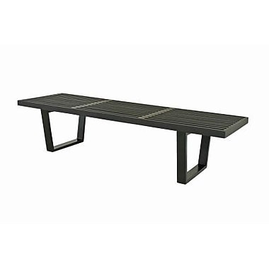 Baxton Studio Nelson Wood Platform Bench, Black
