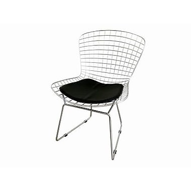 Baxton Studio Bertoia Wire Side Chair, Silver