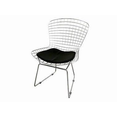 Baxton Studio Bertoia Wire Side Chair, Silver