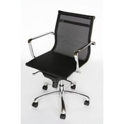 Baxton Studio Chrome Frame High Back Mesh Seat Office Chair