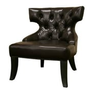 Baxton Studio Taft Leather Club Chair, Dark Brown