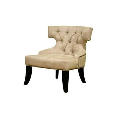 Baxton Studio Taft Micro Fiber Club Chair, Beige