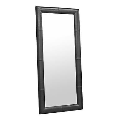 Baxton Studio Leather Frame Floor Mirror, Black