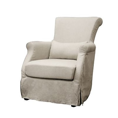 Baxton Studio Carradine Linen Slipcover Modern Club Chair, Beige