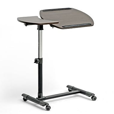 Baxton Studio MDF Olsen Wheeled Laptop Tray Table With Tilt Control, Brown