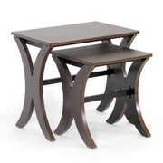 Baxton Studio MDF Xavier Modern Nesting Table Set, Brown
